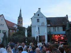 Der Laumer inmitten von Schwabach beim Bürgerfest