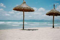 Der leere Strand von Palma de Mallorca