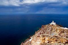 Der Leuchtturm am Zipfel der Insel
