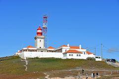 Der Leuchtturm auf dem Cabo da Roca westlich von Lissabon