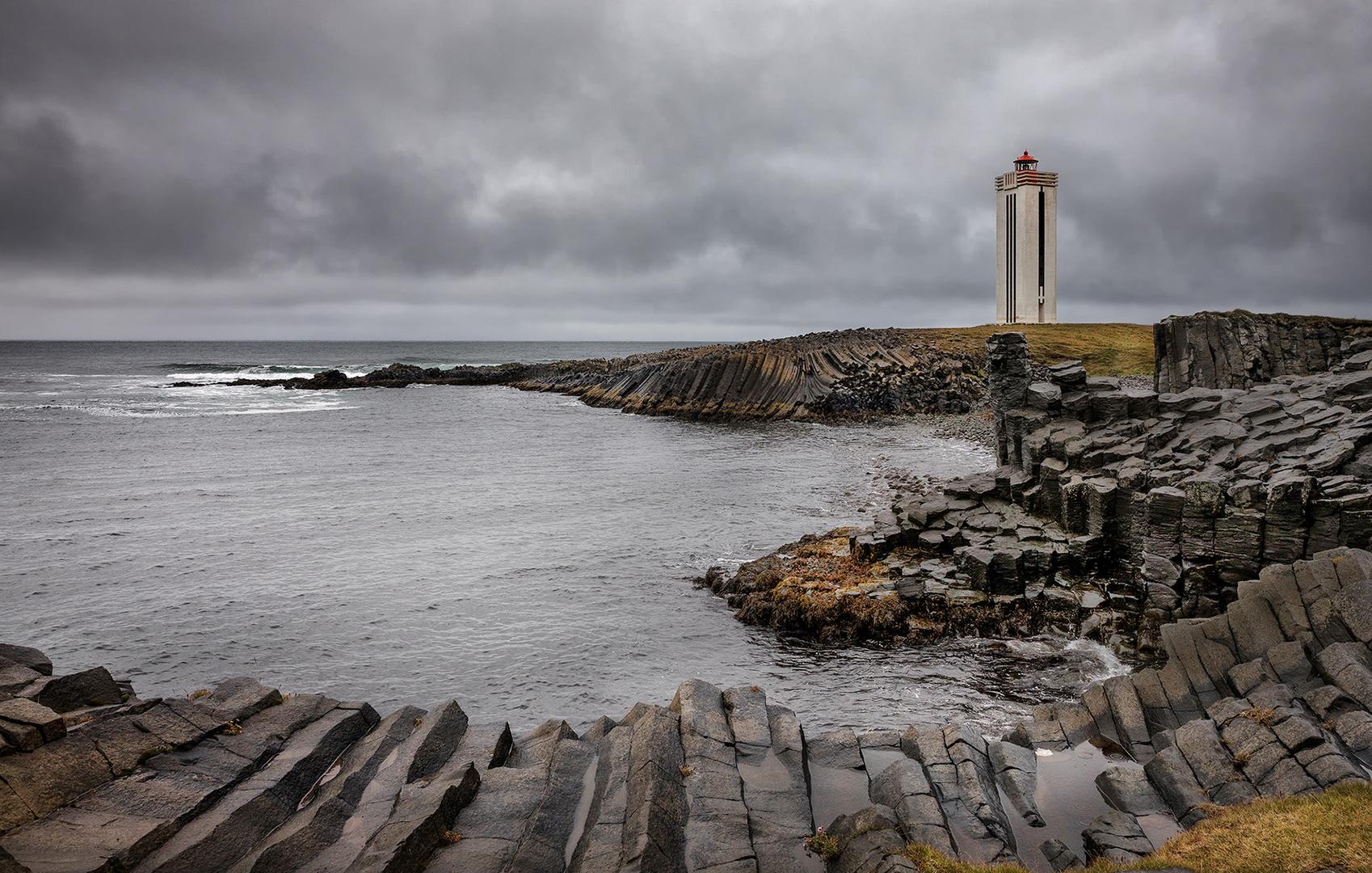 Der Leuchtturm Kalfshamarsvik