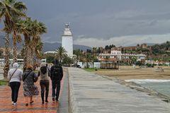 der Leuchtturm von Malaga