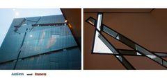 Der Libeskind- Bau des jüdischen Museums Berlin