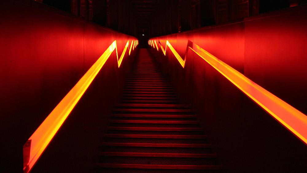 Der Lichtweg nach oben…..