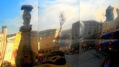 der Linzer Hauptplatz ist total verspiegelt