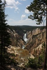 Der Lower Fall des Yellowstone River...