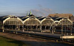 Der Lübecker Hauptbahnhof...
