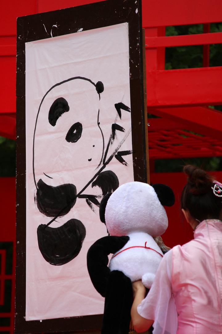 der malende Panda