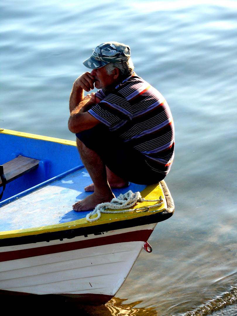 Der Mann im Boot