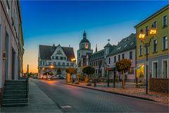 Der Markt mit Rathaus in Barby