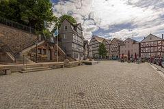 Der Marktplatz an einem Sonntag morgen