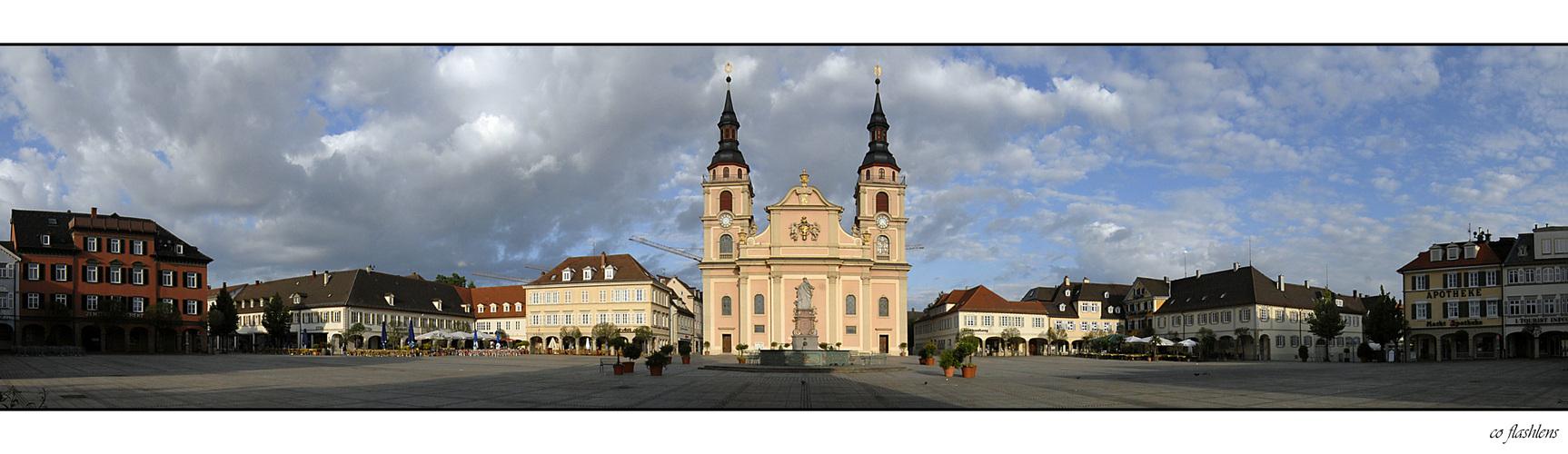 Der Marktplatz von Ludwigsburg
