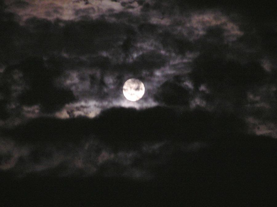 Der Mond - gestern abend