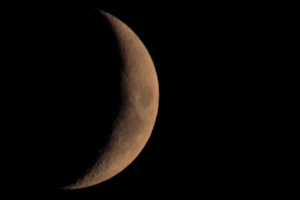 Der Mond heute abend