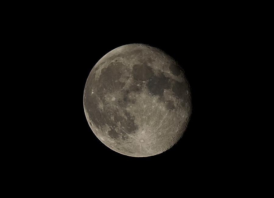 Der Mond heute Nacht