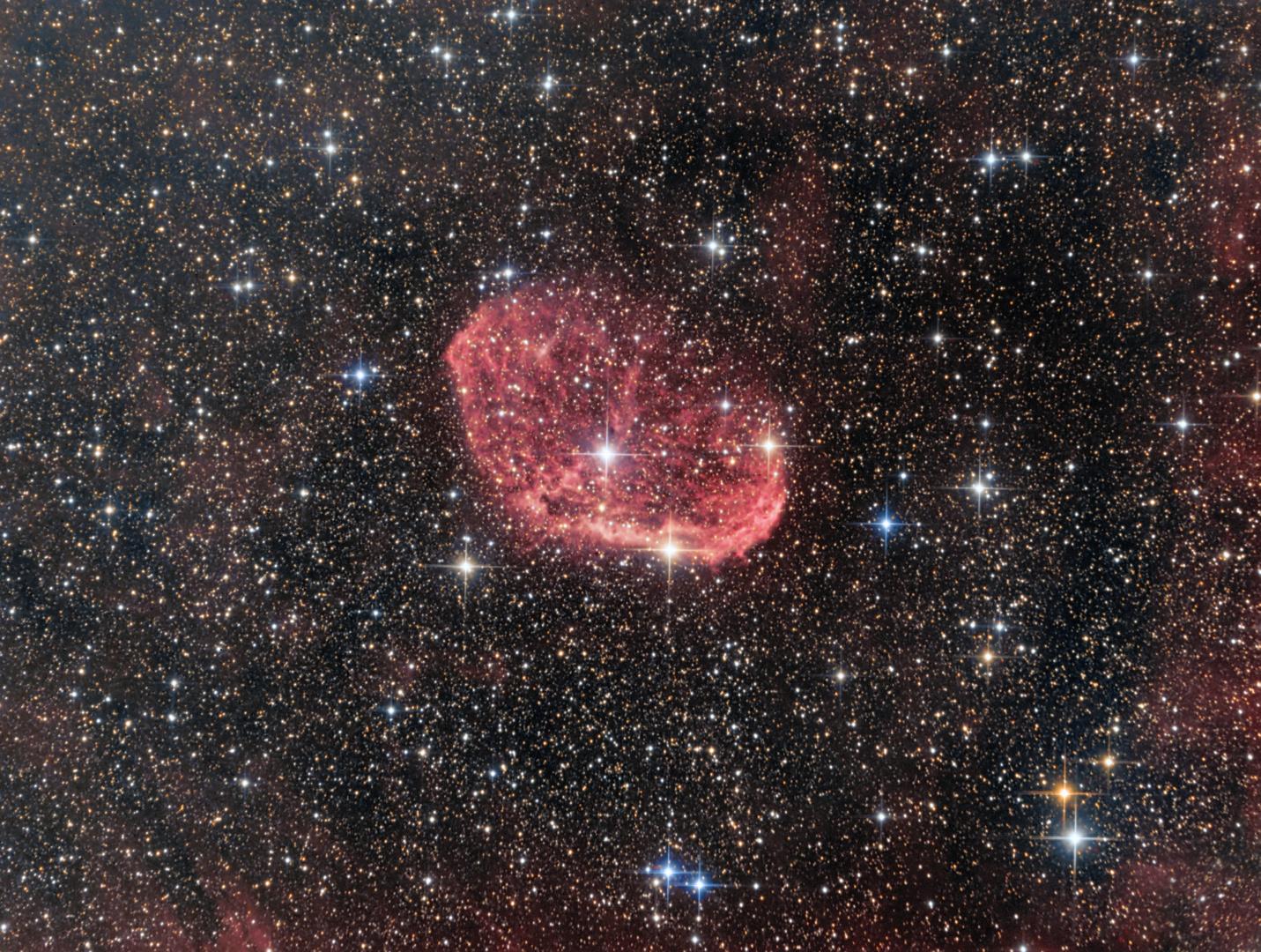 Der Mondsichelnebel im Sternbild Schwan