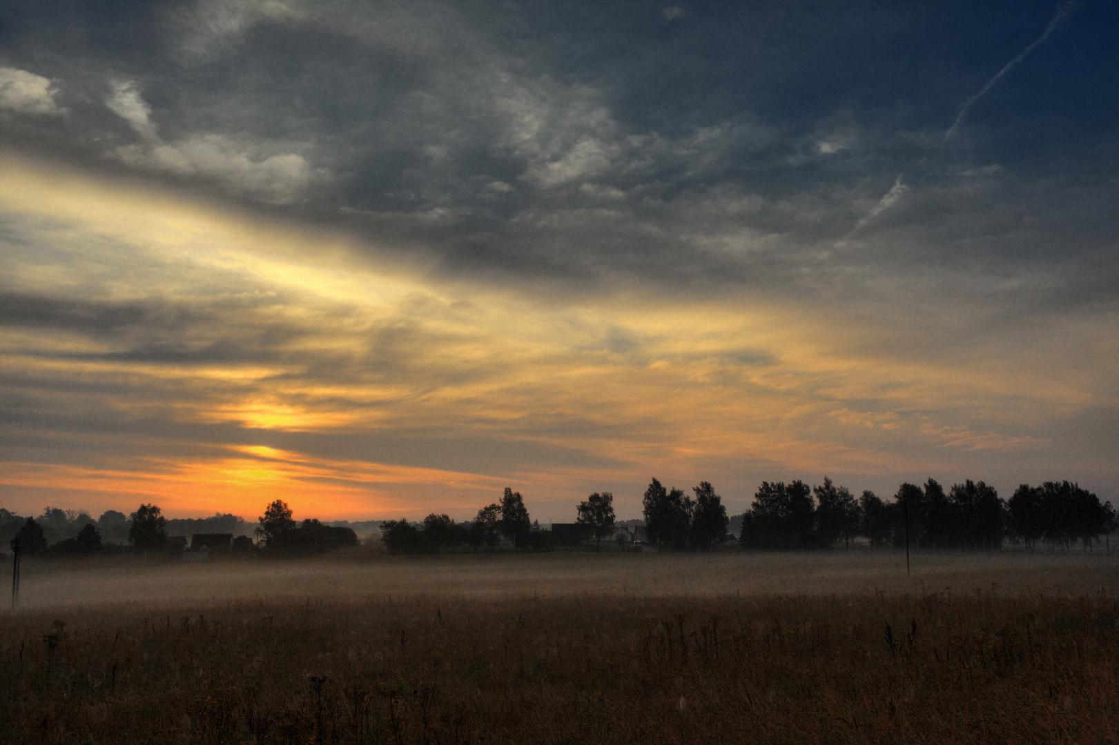 Der Morgen im Dorf