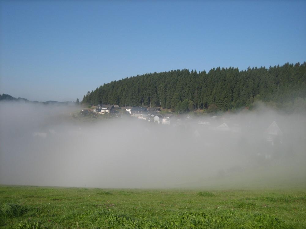 Der Morgen im Hüttental