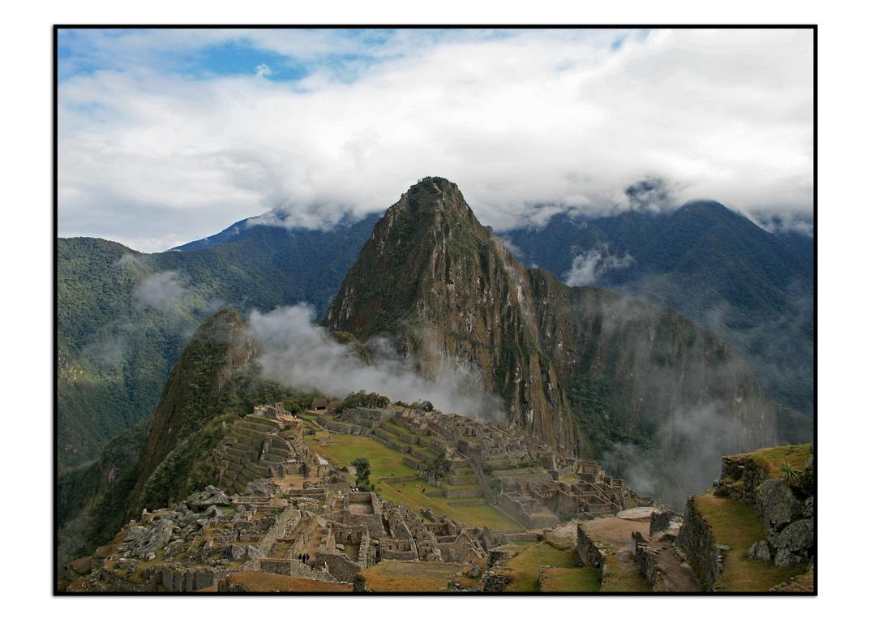 der Morgen nach dem Erdbeben am Machu Picchu/ Peru