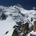 Der Mt. Blanc (4.810m)...