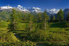 Der Mt. Blanc und seine Zinnen