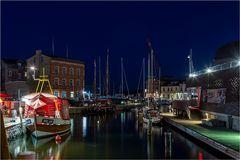 Der nächtliche Hafen Stralsund