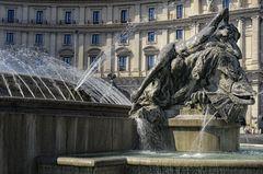 Der Najadenbrunnen auf der Piazza della Repubblica