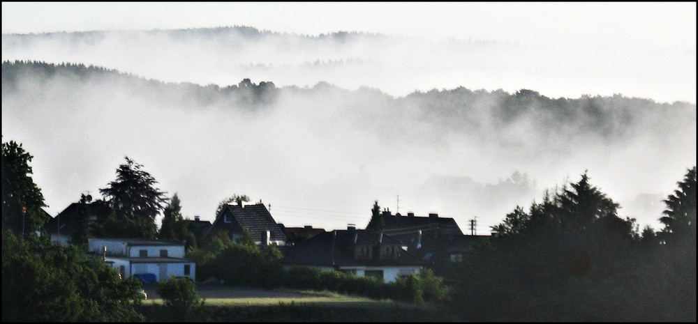 Der Nebel kommt.