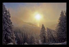 Der Nebel kommt... die Sonne geht