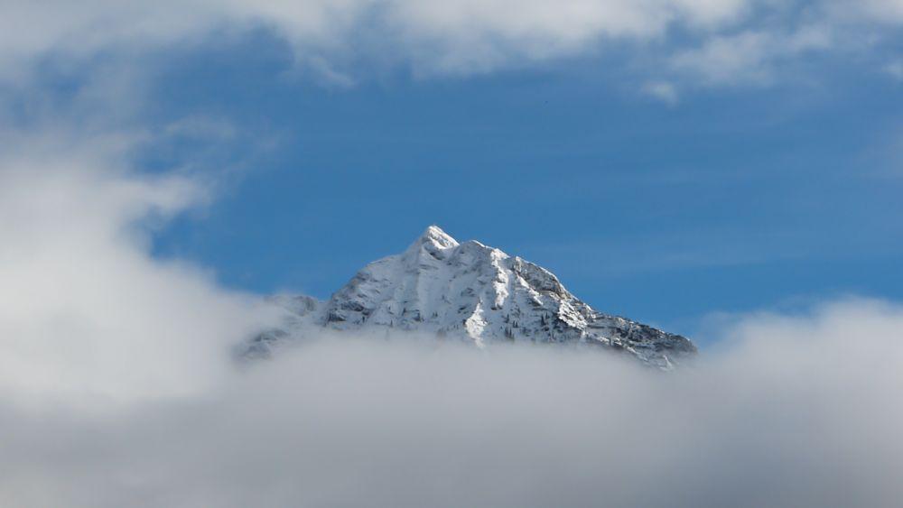 der Nebel lichtet sich über dem Rofan