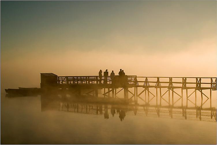Der Nebel weicht, die Sonne erkämpft sich die Macht