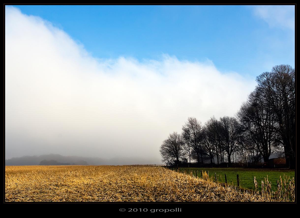 Der Nebel zieht ab...