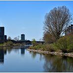 Der Neckar bei Mannheim