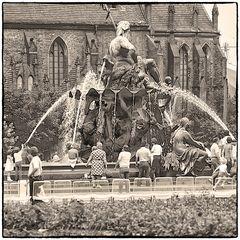 Der Neptunbrunnen ca. 1985