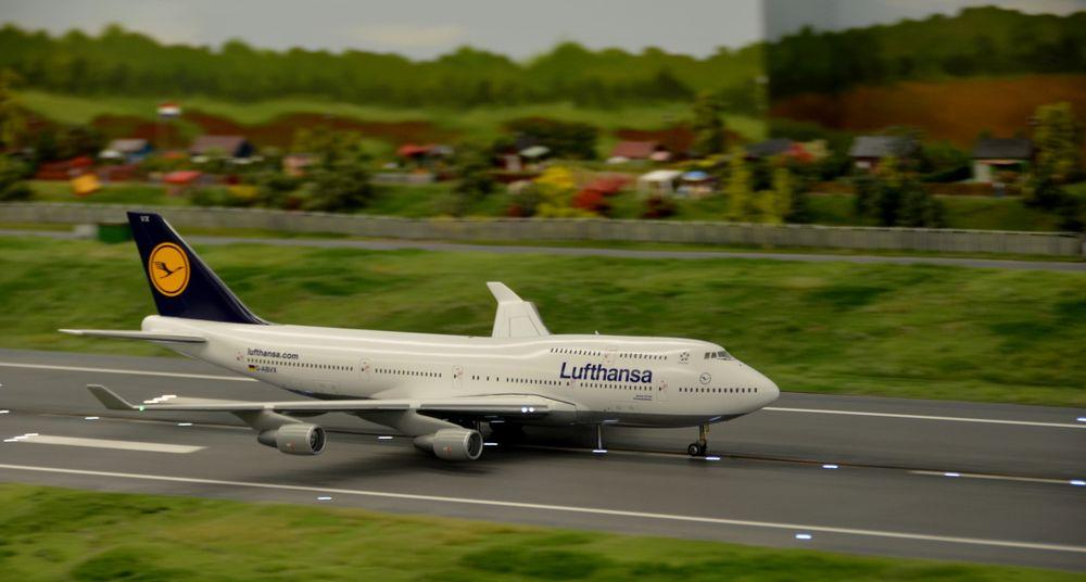 der Neue Flughafen inder Miniatur Wunderland in Hamburg