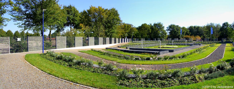 Der neue Friedhof von Schalke 04 in Gelsenkirchen