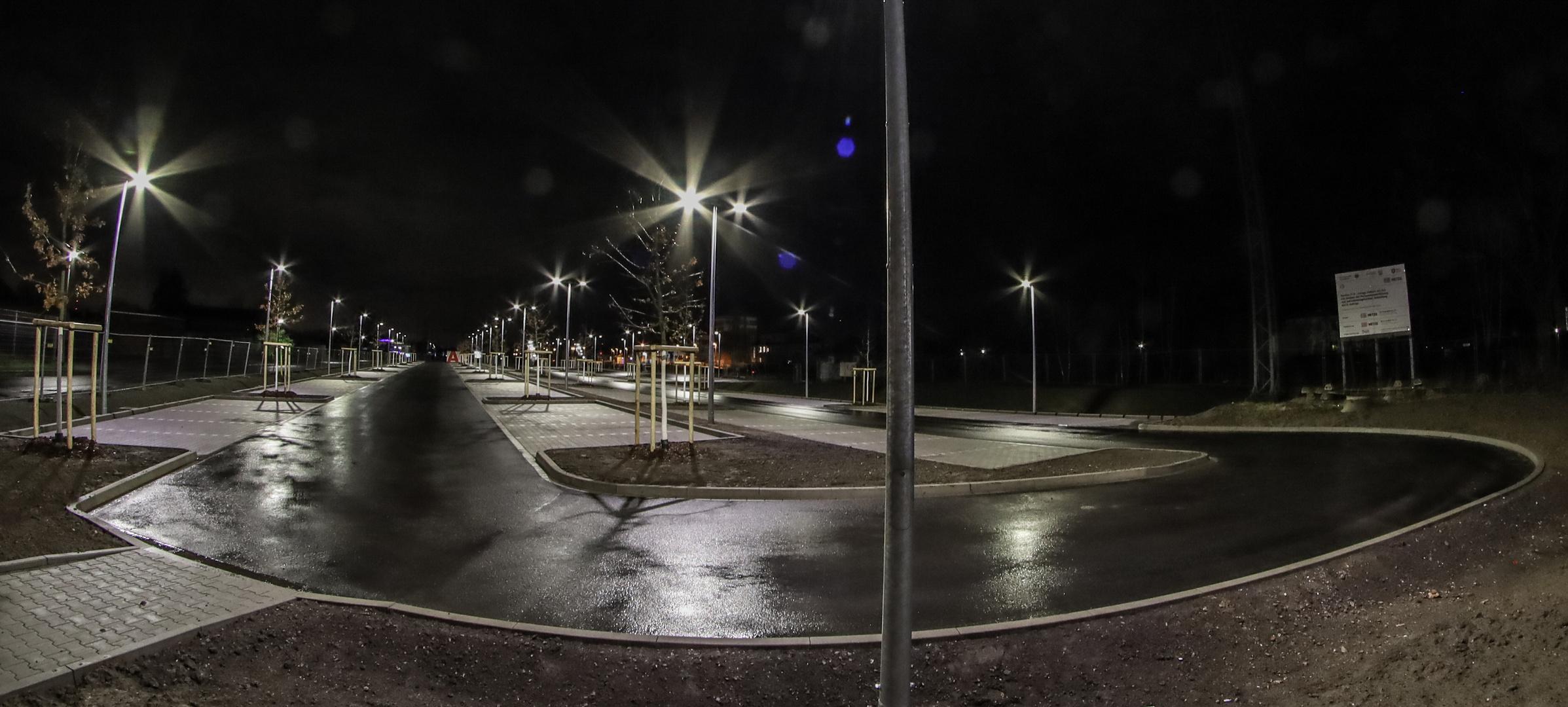 Der neue Parkplatz am Bahnhof