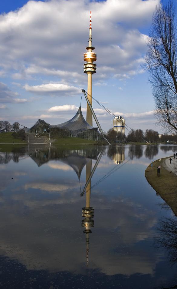 der Olympiaturm (in München)