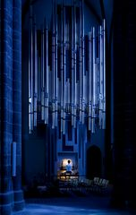 Der Orgelspieler am Abend vor dem Konzert
