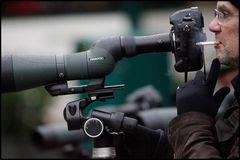 Der Ornithologe als Fotograf im Regen....