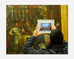 Der Pad-Fotograf im Louvre