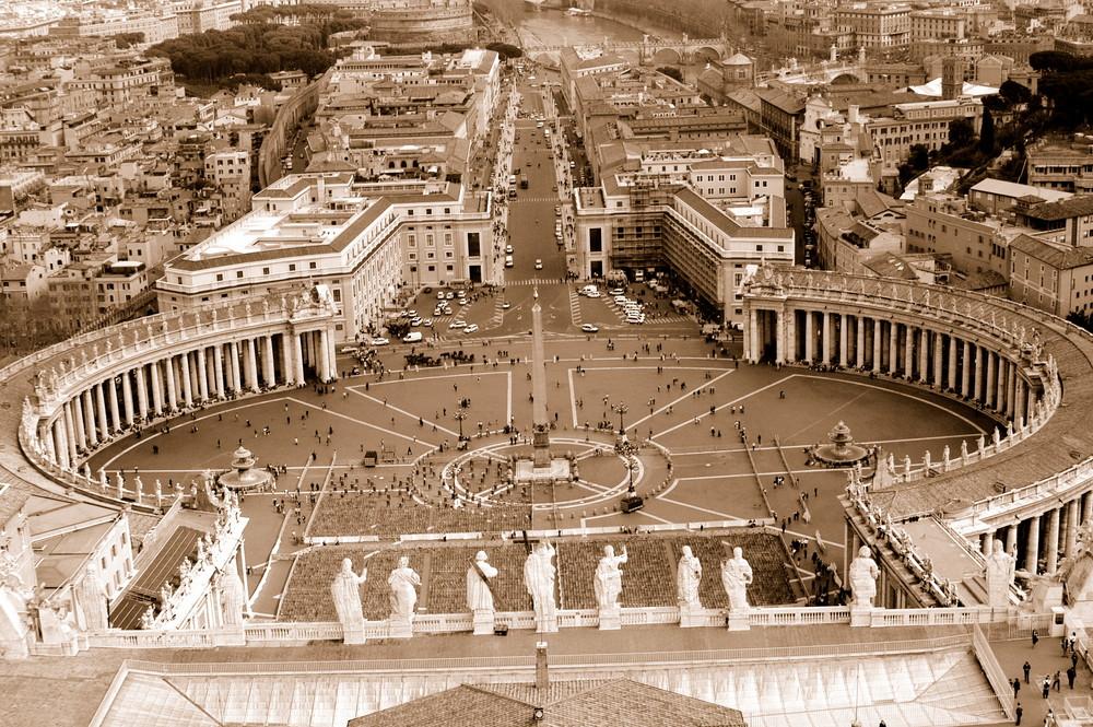 Der Papst hat einen tollen Ausblick ...