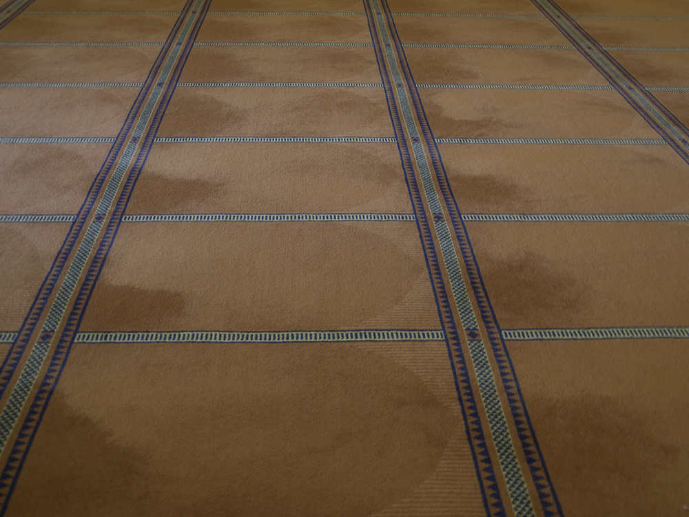 Der persische Teppich in der Gebetshalle.