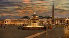 Der Petersplatz in Rom
