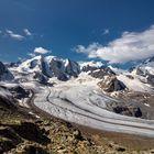 Der Piz Palü mit seinem Gletscher