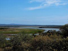 Der Pongola Fluß ,er mündet in den Lake Jozini .