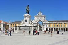 Der Praca do Comercio in Lissabon