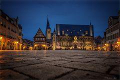 Der Quedlinburger Marktplatz...