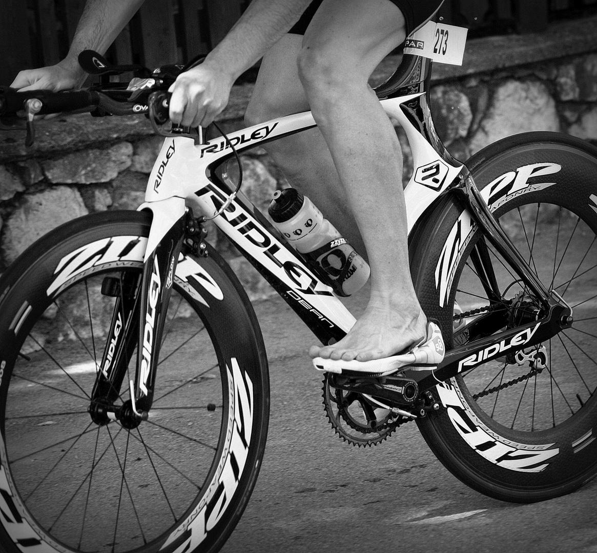 ... der Radfahrer ...