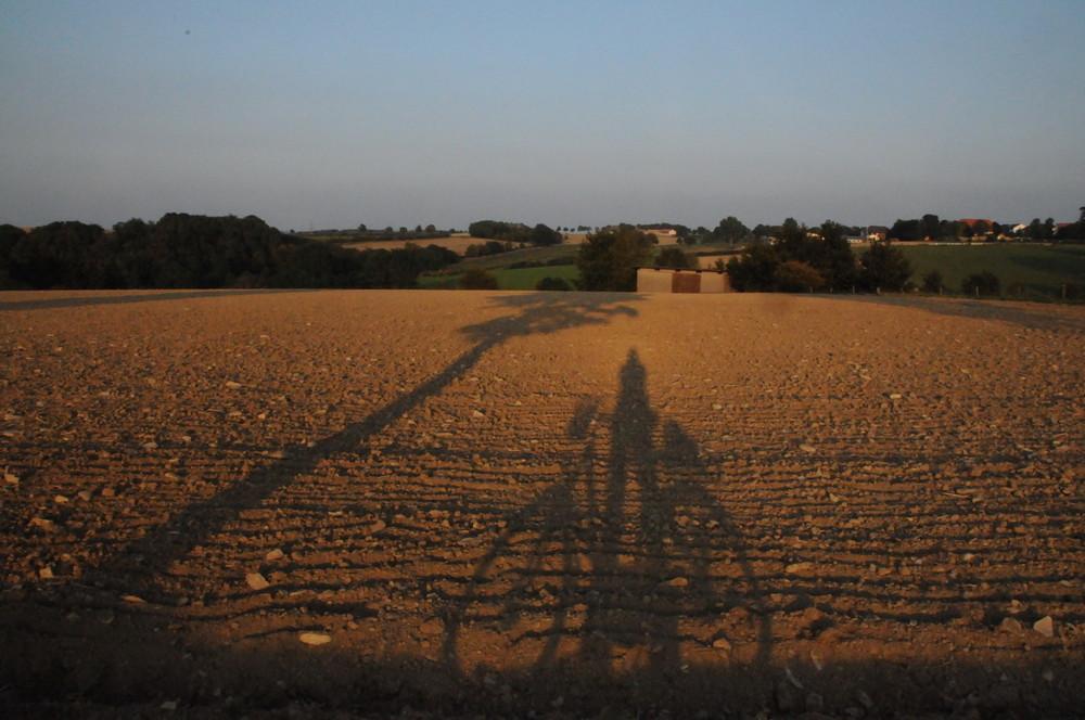Der Radfahrer - Selbstportrait